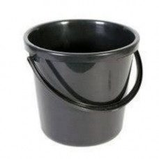 Ведро пластик (10л) круглое, хозяйственное, с пласт. ручкой, без крышки черное/12202 /G10-B