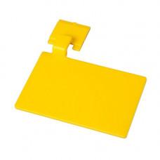 Маркировочный значек для алюмин. рейки, цвет желтый ХАССП