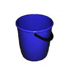 Ведро пищевое (10л) круглое пластик. мерное цвет синее с пласт. ручкой без крышки /122010/6