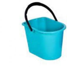 Ведро пластик (14л) прямоугольное, хозяйственное, с пласт. ручкой, без крышки голубое/125077-АК/6