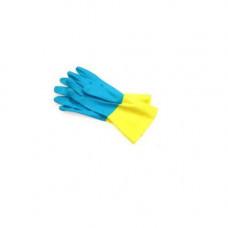 Рукавицы защитные химические RBI-VEX желто-голубые р.8