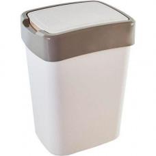 Ведро для мусора пластик 45л цвет микс, с плавающей крышкой/ 123068