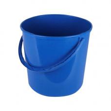 Ведро пищевое (8л) круглое пластик. цвет микс с пласт. ручкой без крышки /125063