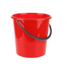 Ведро пищевое (10л) круглое пластик цвет красн мерное с пласт. ручкой без крышки /122010/1