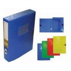 Папка-бокс А4/55 пластик. на липучке, MIX 4-241