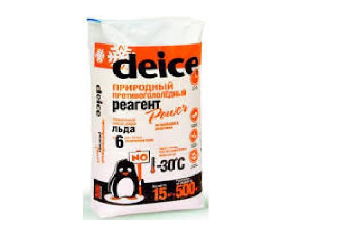 Антигололедный реагент Deice Ultra (кальций  хлористый),15кг любое покрытие -30