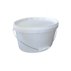Ведро пищевое (10л) овальное пластик. цвет белый с герм. крышкой