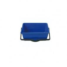 Ведро пластик (14л) прямоугольное, хозяйственное, с пласт. ручкой, без крышки MIX / 122024