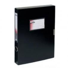 Папка-бокс А4/36 пластик. на липучке, черная 1736-01-А