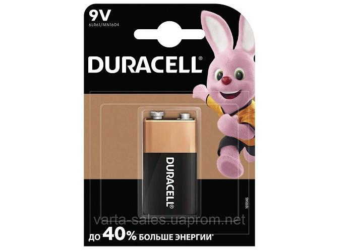 Батарейка 6LR61 Duracell щелочная крона 9v,1.5V
