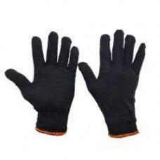 Перчатки трикотажные без ПВХ  черные 10-й класс (3 нити) 8301