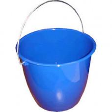 Ведро (5л) пластик круглое, хозяйственное, с пласт. ручкой, без крышки черное/(пластик С)