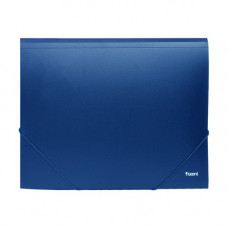 Папка-бокс А4/35 пластик.2 резинки синяя 1508-02-А
