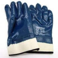 Перчатки нитриловые с твердым манжетом р.10 6217