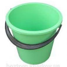 Ведро пластик (10л) круглое, хозяйственное, с пласт. ручкой, без крышки MIX /125064