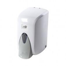 Дозатор жидкого мыла (0,5л) белый пластик S.5