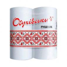 Полотенца бумажные целлюлозные белые, рулон.(230*220мм/16м) 2-х слойн/38отр (2шт) Обухов