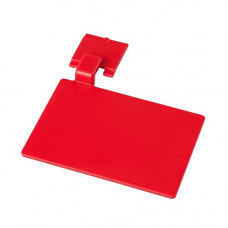Маркировочный значек для алюмин. рейки, цвет красный ХАССП