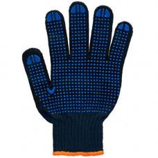 Перчатки трикотажные с ПВХ TWIST черные 7-й класс (6 нитей) 8611