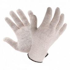 Перчатки трикотажные без ПВХ  белые 7-й класс (7 нитей) 8700