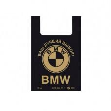 Пакеты полиэтиленовый 40*60 25мкм (50шт), (BMW), черный/синие Україна