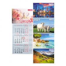 Календарь 2021 квартальный (1 спир.) MIX BM.2106