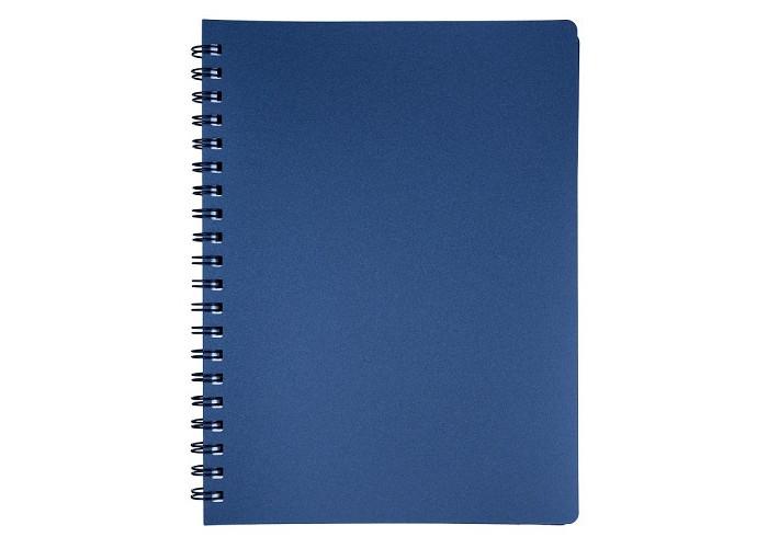 Блокнот  А4 80л # пласт. обложка, боковая спираль, графит STATUS, BM.24452153-50